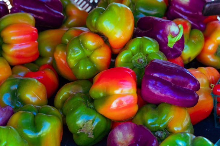 Eigen gekweekte paprika's